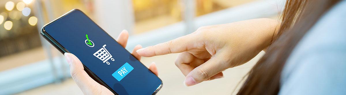 Smartphone med e-handel