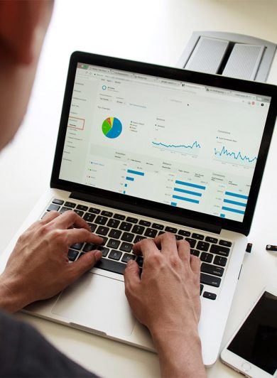 Laptop med Google Analytics