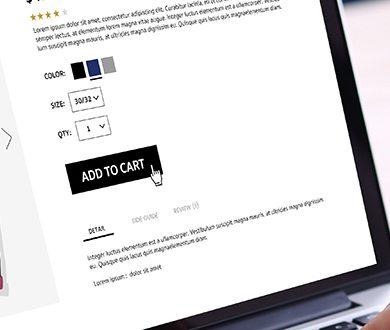 E-handel med produktbeskrivning