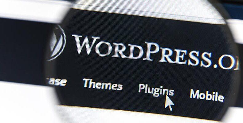 Skärm som visar WordPress.org huvudmeny